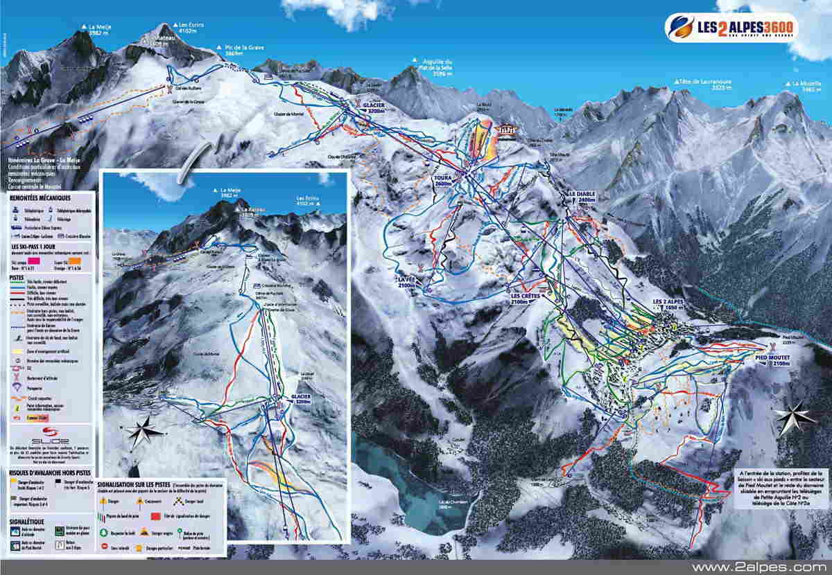 Les 2 Alpes Mapa