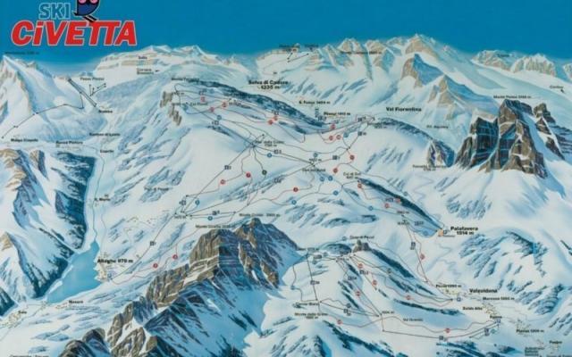 Mapa Civetta