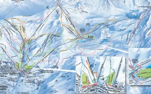 Orcieres Plan Mapa
