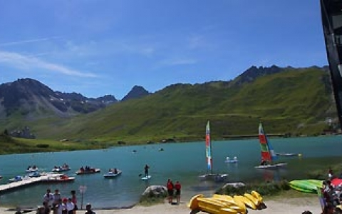 Tignes summer lake