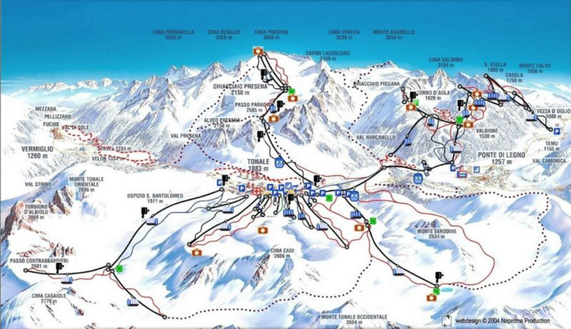 adamello ski ski map